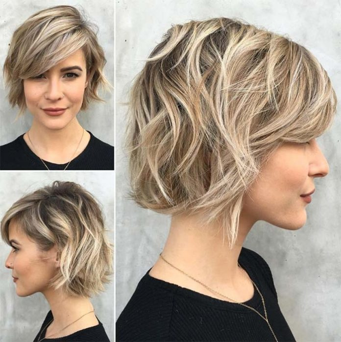 38 Short Layered Bob Haircuts with Side Swept Bangs That Make You Look Younger.