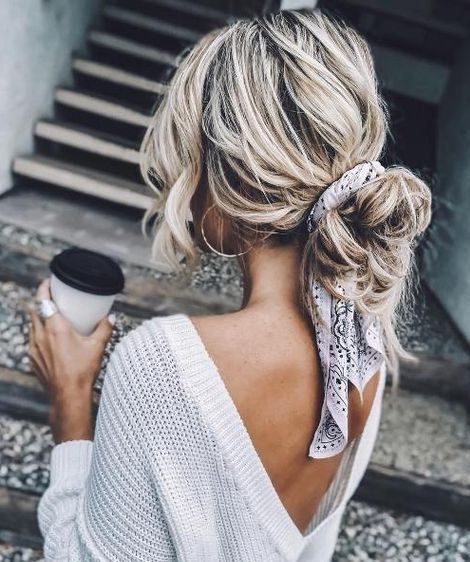 Casual messy updo