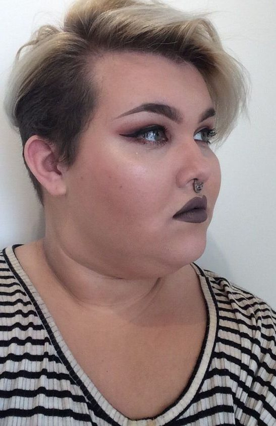 Big woman plus size hairstyles double chin