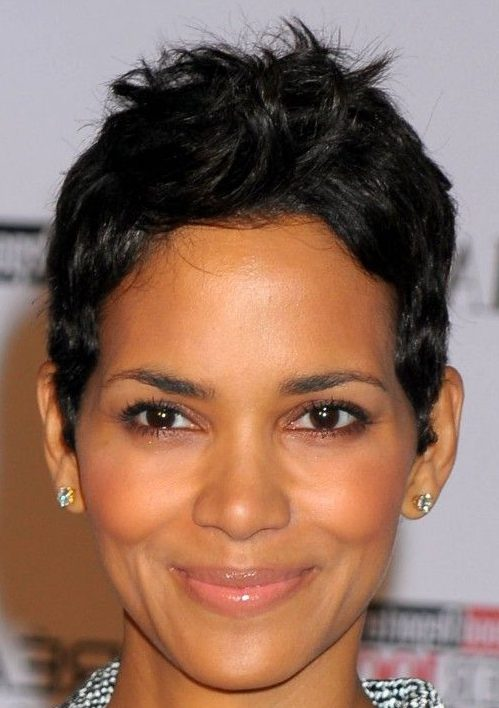 Chubby face short black hairstyles