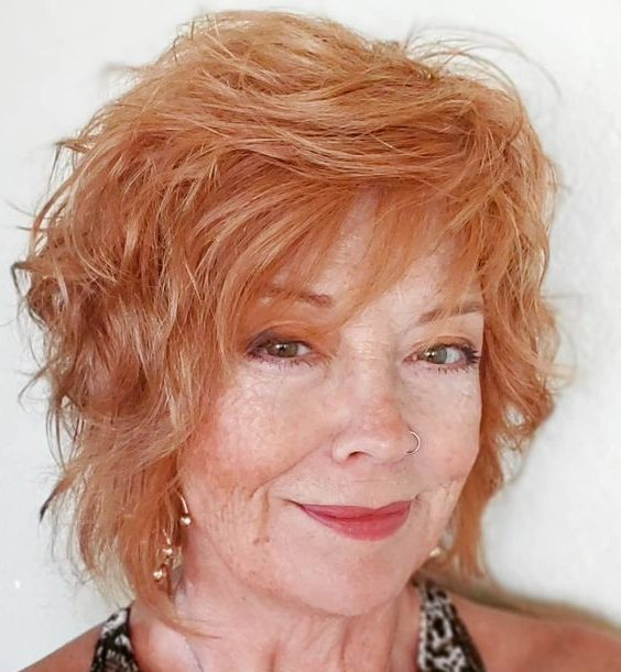 Layered hairstyles for older women