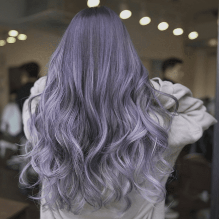 brown purple ombre hair