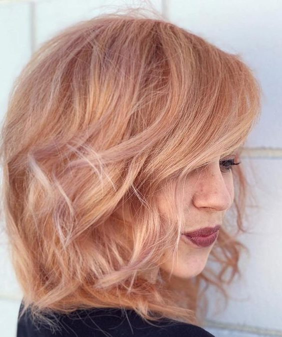 highlights strawberry blonde short hair color