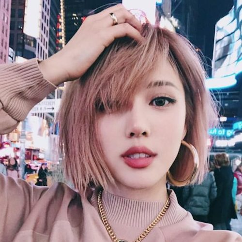 korean short hairstyles for round faces