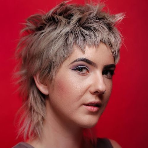 messy short punk hairstyle