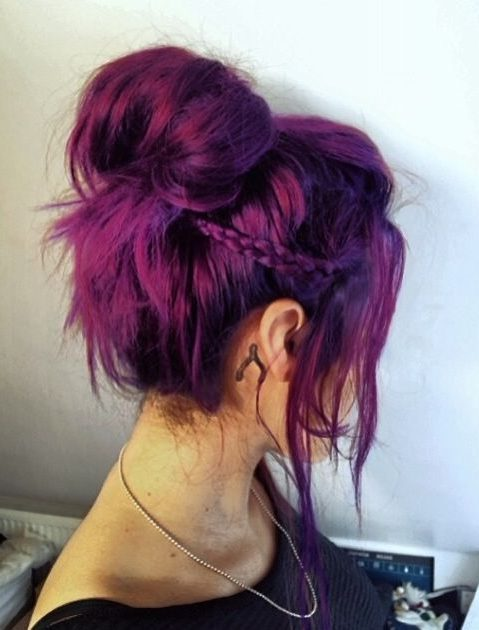 red magenta hair color