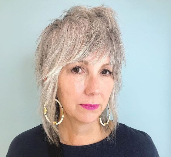 shaggy hairstyles for fine hair over 50