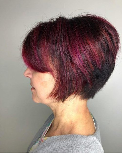 wedge haircuts for over 40