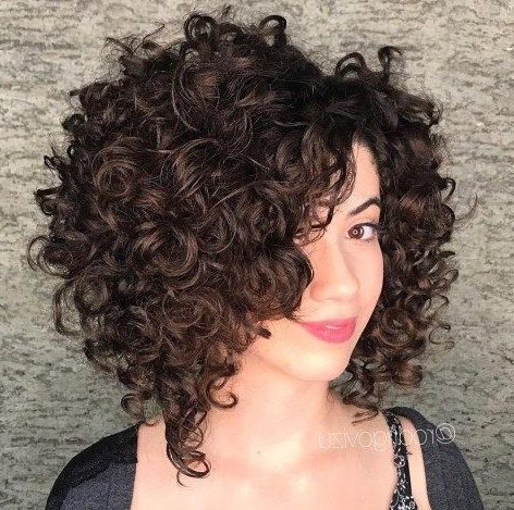 chubby face short curly hairstyles