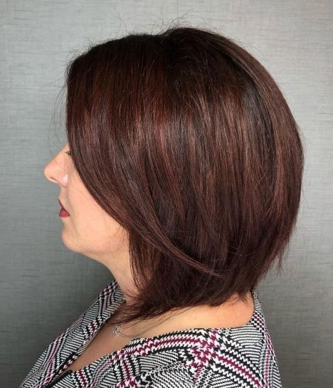 funky hair color over 60
