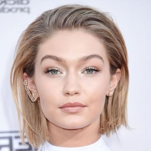 middle part slicked back hairstyles female