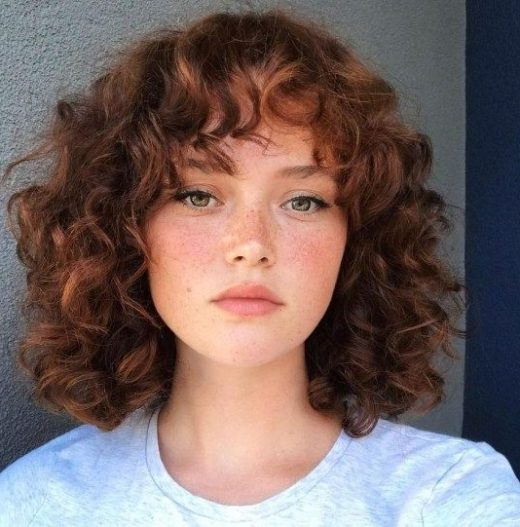 natural curly stacked bob curlyie short curly hair