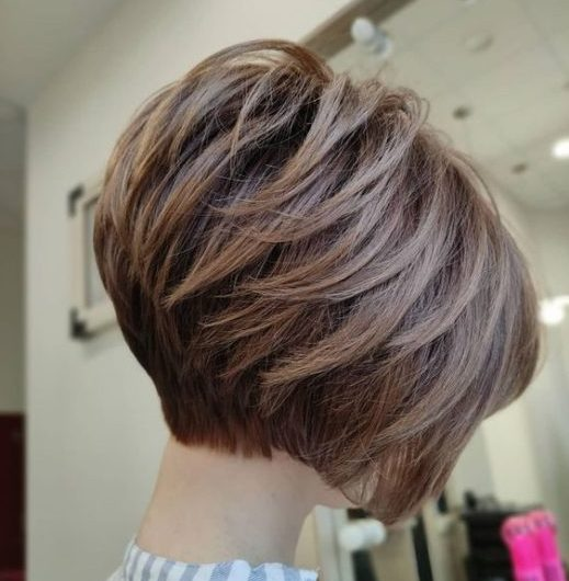 stacked funky inverted bob