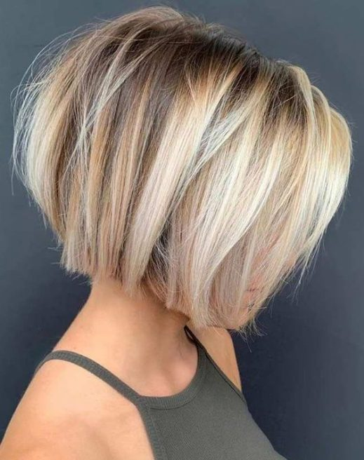 stacked inverted bob curly