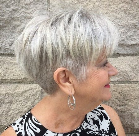 Hairstyles for over 60 grey hair