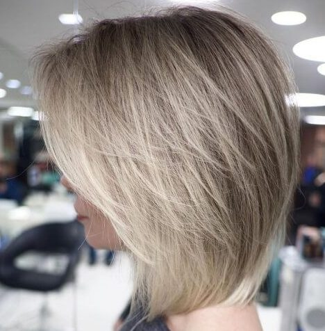 Inverted bob layered bob hairstyles for over 50