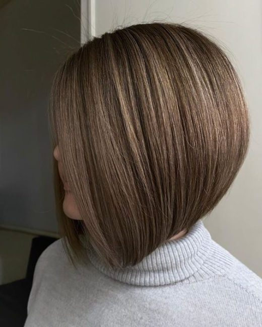 high stacked inverted bob